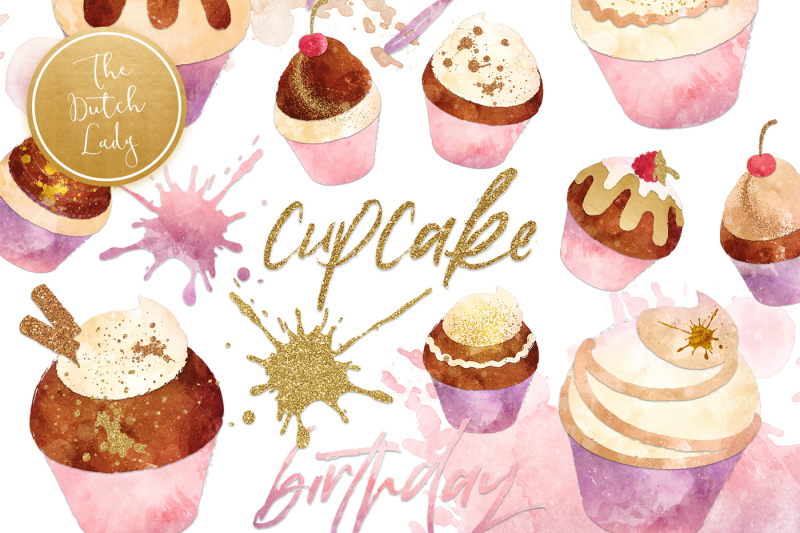 cupcake-clipart-set-in-grunge-style