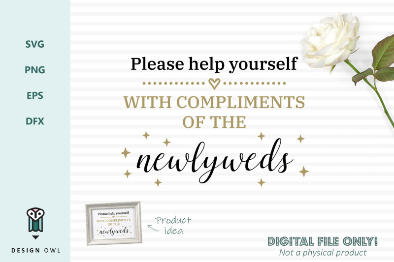 with-compliments-of-the-newlyweds