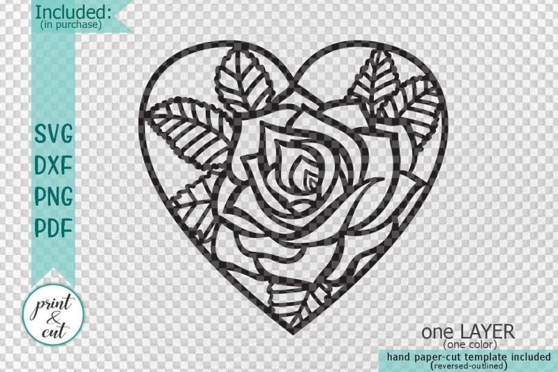 Heart Rose Fl Cutting Wedding Paper Cut Out