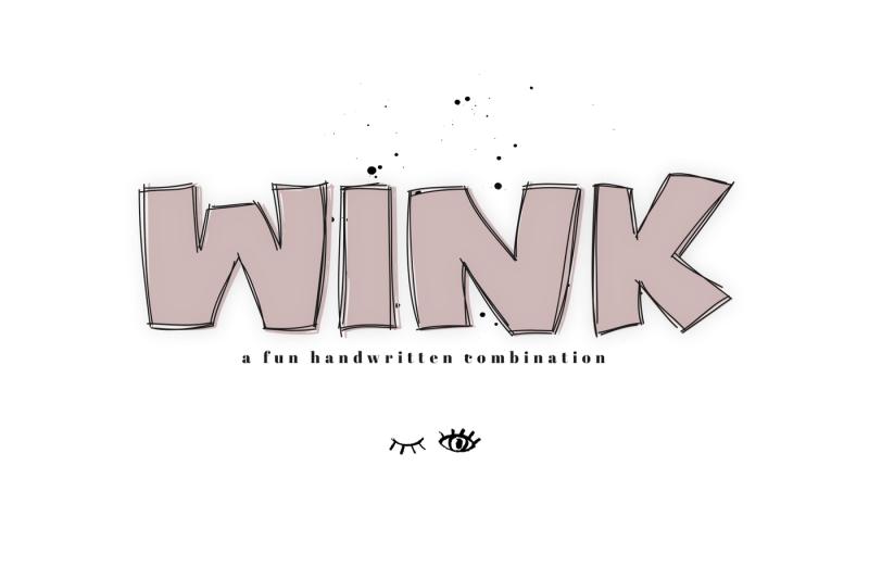 wink-a-bold-and-fun-handwritten-font