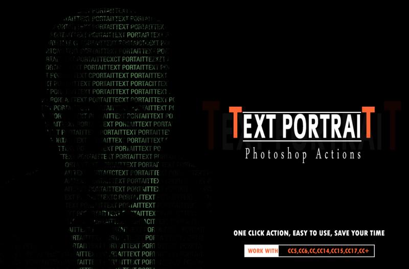 text-portrait-photoshop-actions