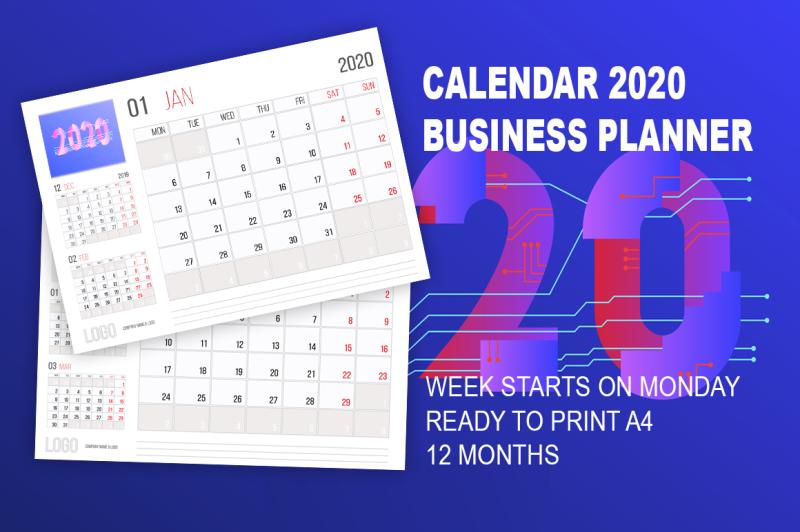 calendar-2020-business-planner-design