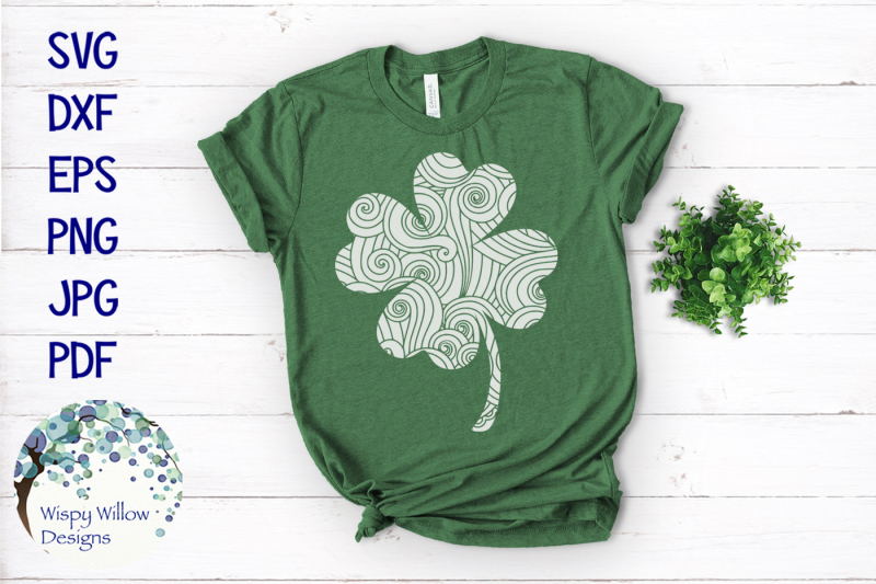 lucky-four-leaf-clover-zentangle-svg-bundle