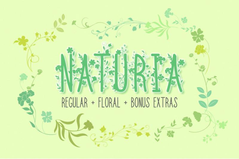 naturia-floral-font-amp-bonus-extras