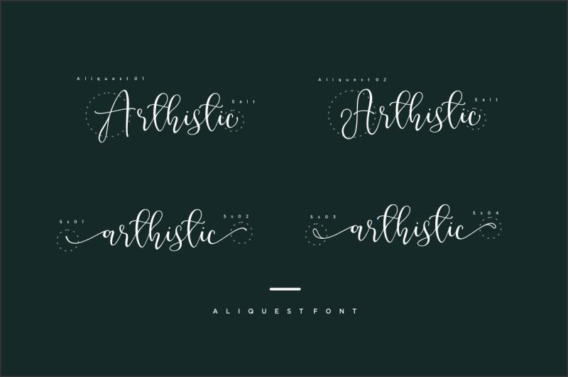aliquest-script-font