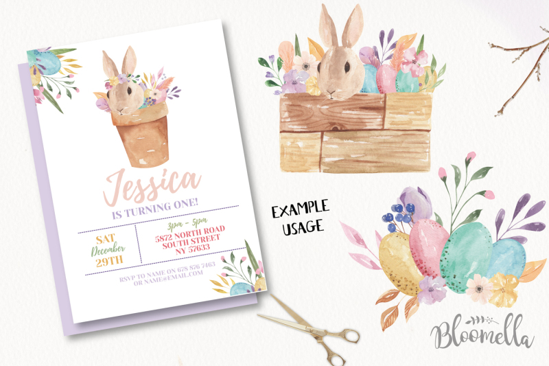 easter-bunny-pastel-egg-watercolor-kit-bouquet-flowers-clipart-spring
