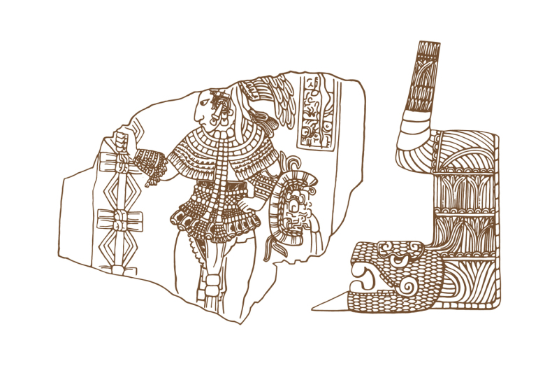 vintage-graphic-maya-glyphs-inca-and-aztec-zodiac-ornaments