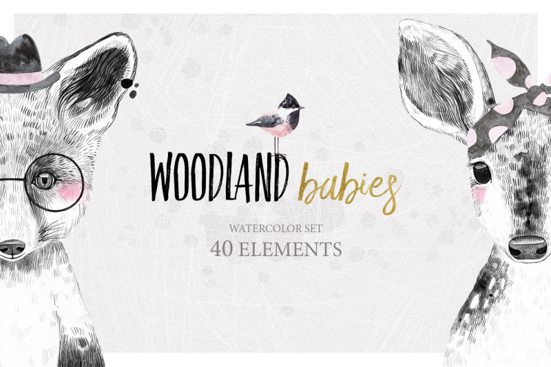 woodland-babies-watercolor-set