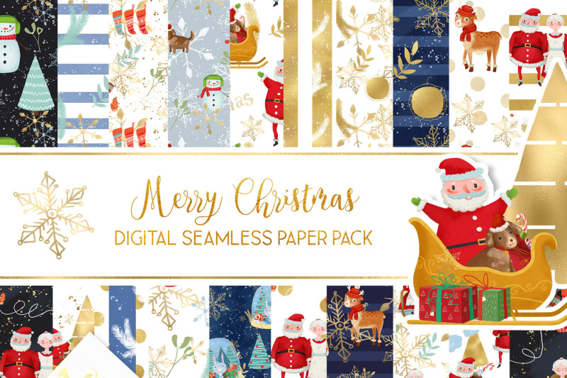 The Merry And Bright Graphics Bundle Vol 1 By Thehungryjpeg
