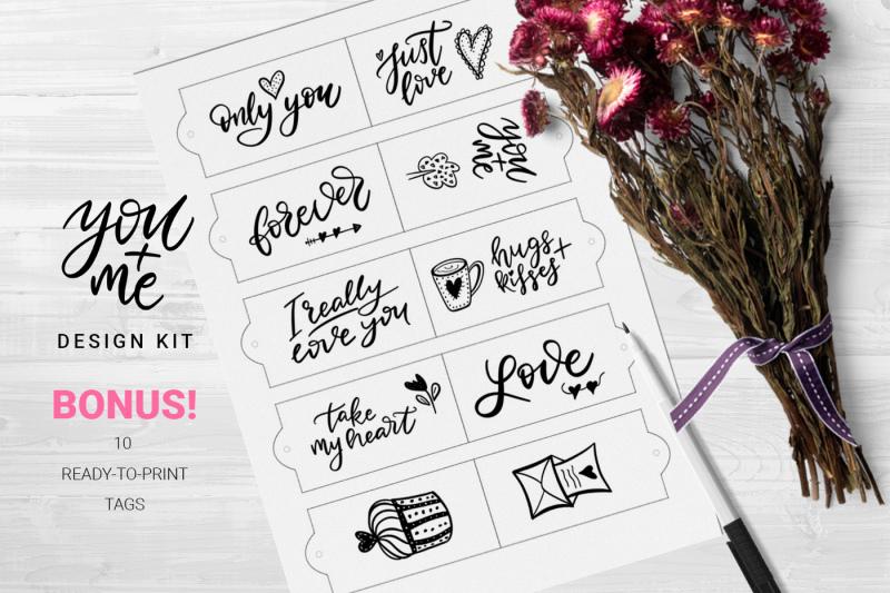 you-me-hand-drawn-design-kit
