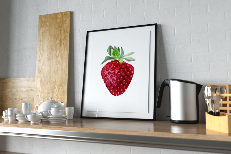 watercolor-strawberry-ready-cards-for-valentine-039-s-day