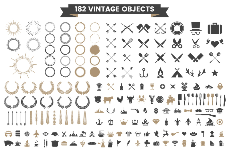 vintage-badge-amp-objects-vector-set