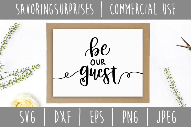 be-our-guest-svg-dxf-eps-png-jpeg
