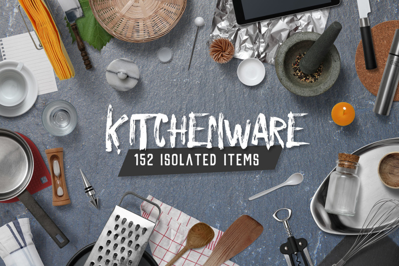 Free Kitchenware - Isolated Food Items (PSD Mockups)