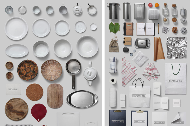 kitchenware-isolated-food-items