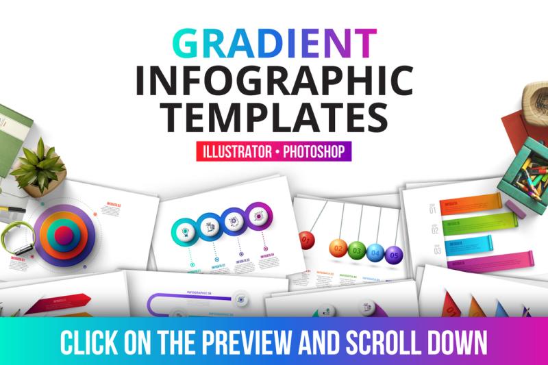 gradient-infographics-templates