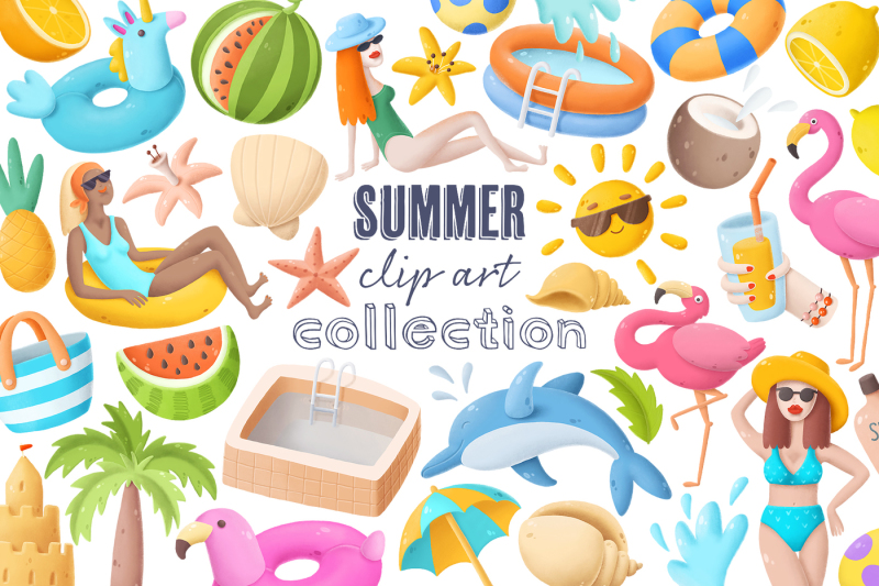 summer-clip-art-collection