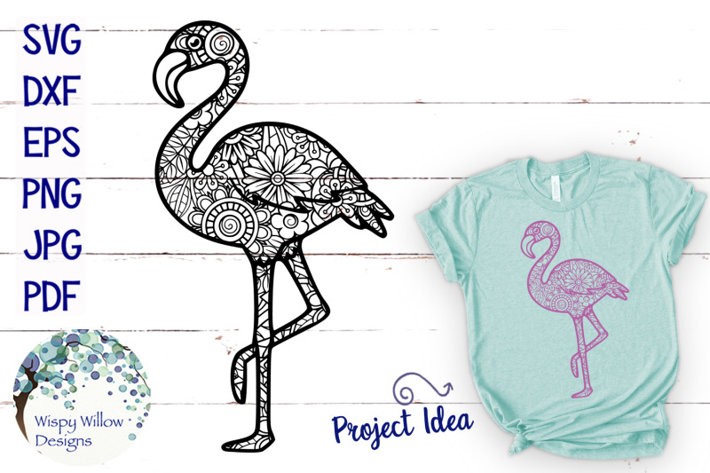flamingo-zentangle-svg