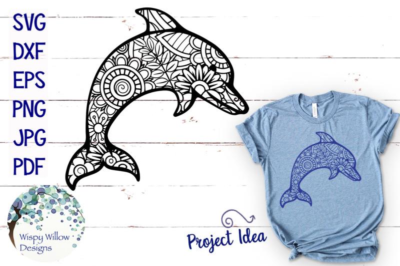 dolphin-zentangle