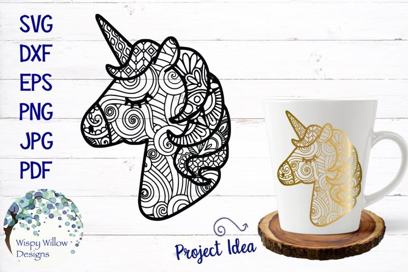 unicorn-zentangle-svg