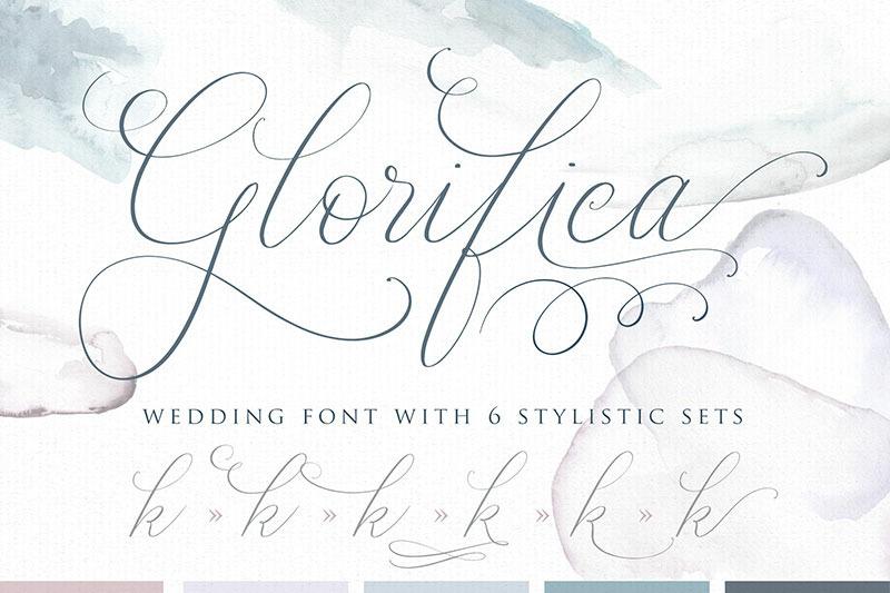 glorifica-wedding-font