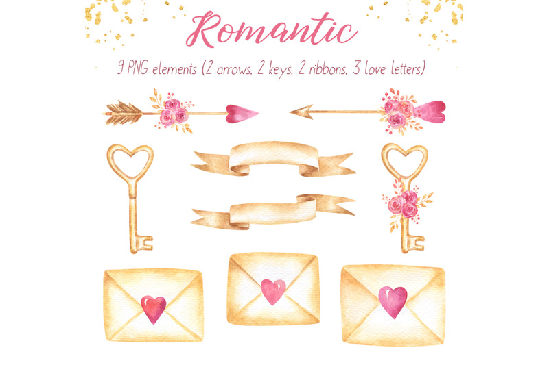 romantic-and-valentines-day-watercolor-collection