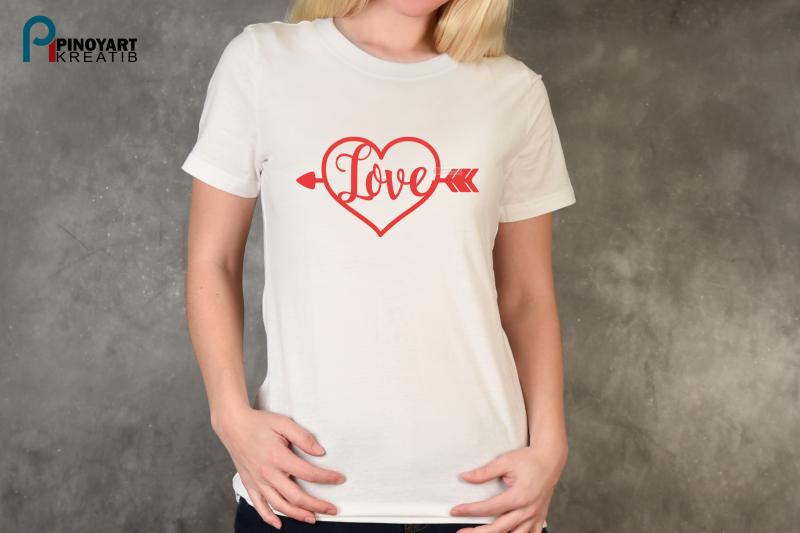 Love Heart Svg Love Svg Valentine Heart Svg Love Arrow Svg By
