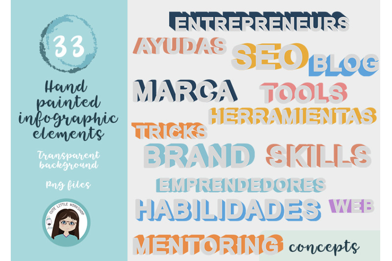 hand-painted-infographic-elements