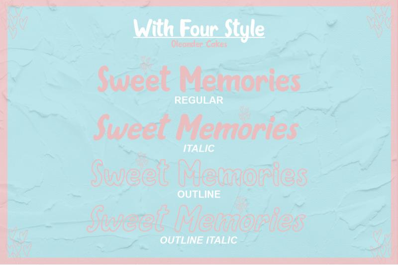 oleander-cakes-sweet-handmade-font
