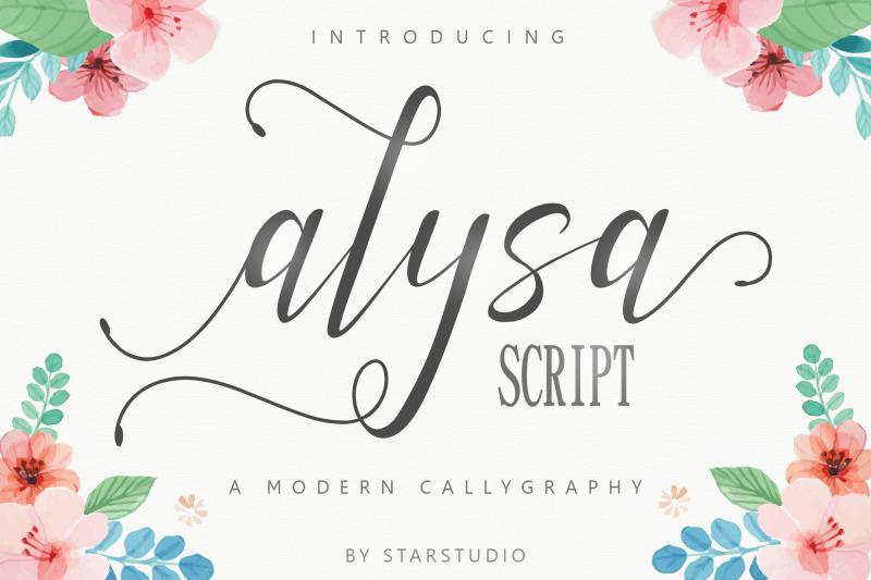 alysa-script-font
