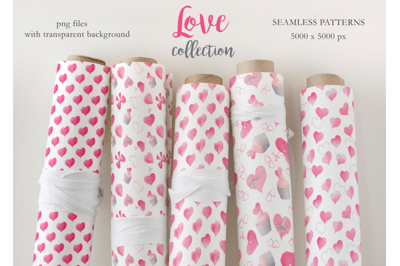 watercolor-pink-love-collection