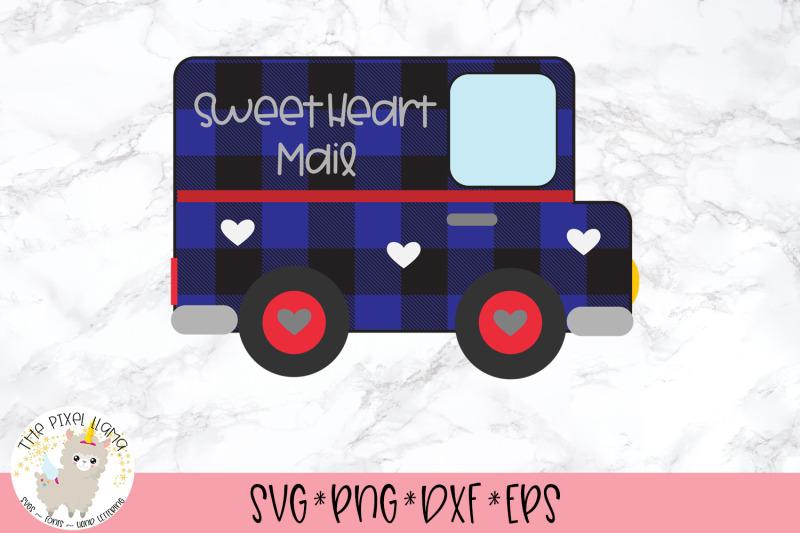 Buffalo Plaid Valentine Mail Truck Svg By The Pixel Llama