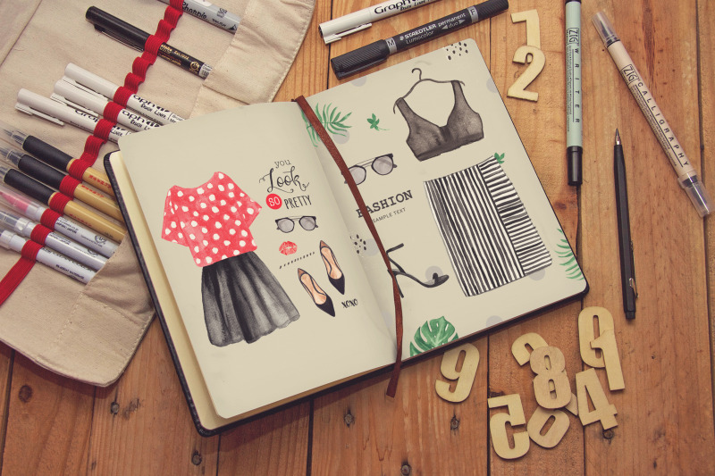 Free Journal Diary Notebook Sketch (PSD Mockups)
