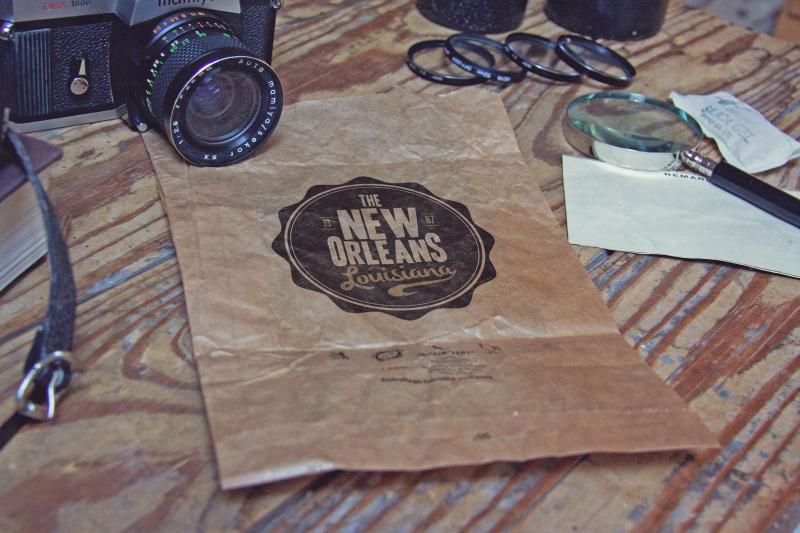 Free Crumpled Paper Bag Vertical (PSD Mockups)