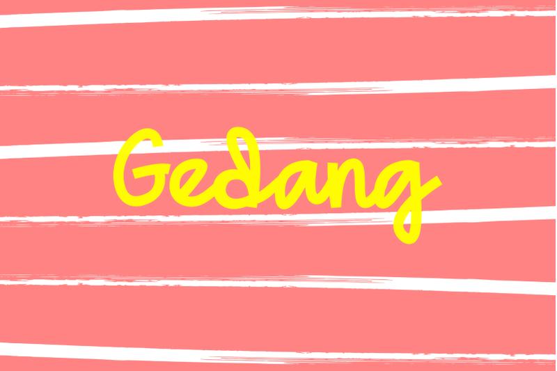 gedang-playful-font