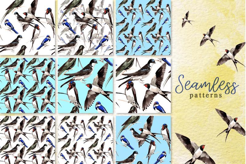 swallows-watercolor-png