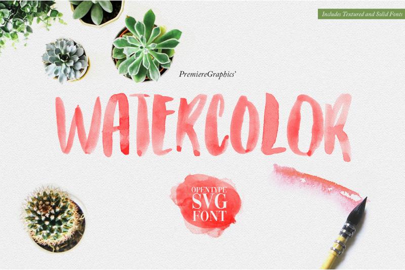 watercolor-opentype-svg-font