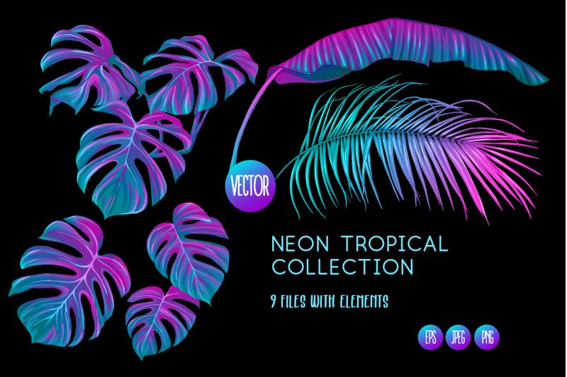 tropical-neon-leaves