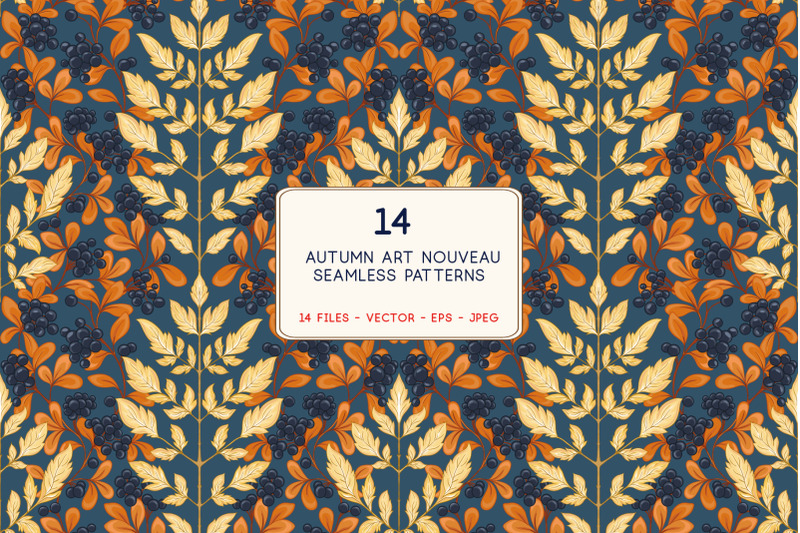 art-nouveau-autumn-leaves-pattern