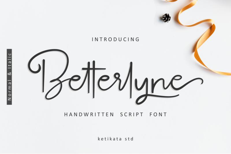 betterlyne-handwritten-script