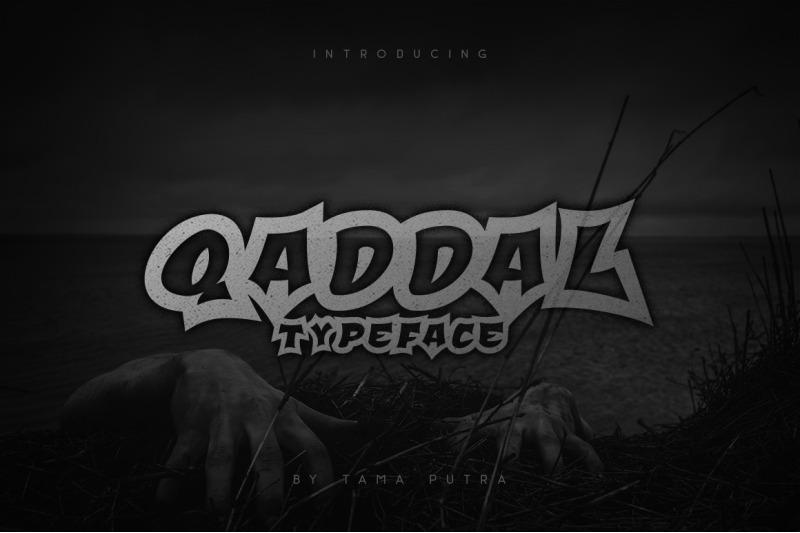 qaddal-graffiti-font