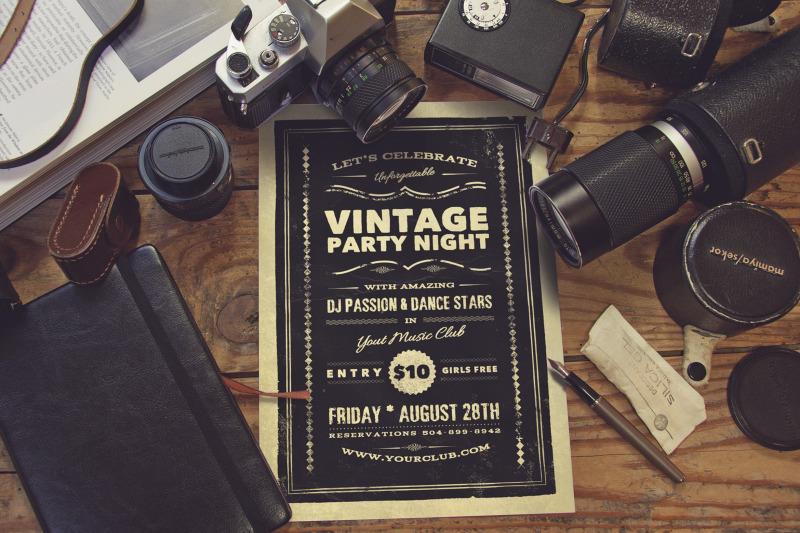 Free Vintage Photography Studio Scene (PSD Mockups)