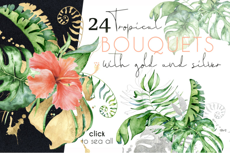 24-tropical-bouquets-watercolor