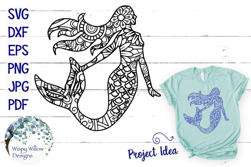 mermaid-zentangle-svg