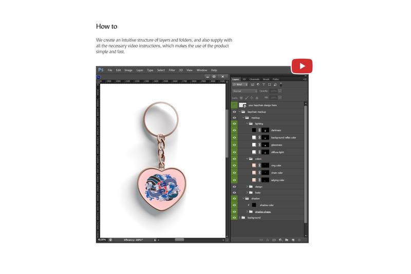 heart-keychain-mockup