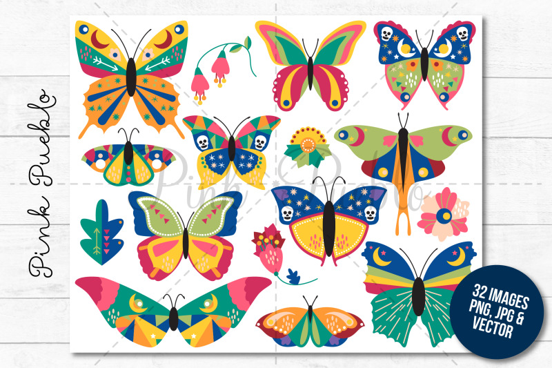 boho-butterfly-clipart-and-vectors