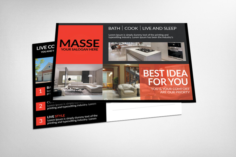 Modern Real Estate Postcard Template By Business Templates