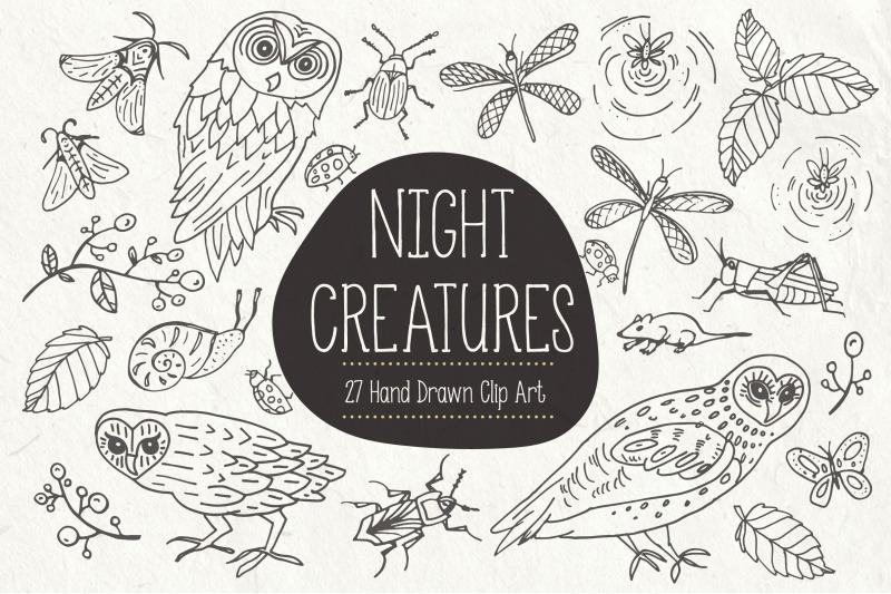 night-creatures-clip-art-amp-vectors