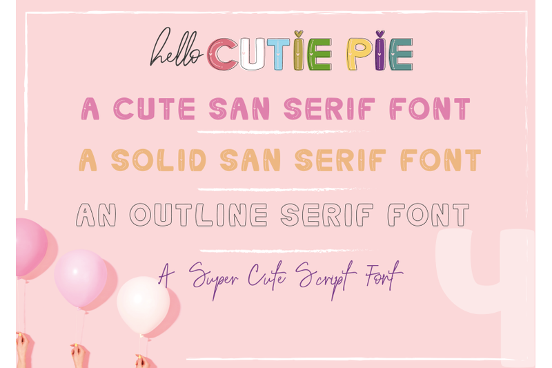 hello-cutie-pie-font-collection