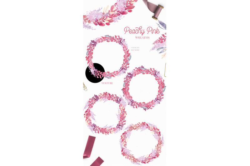 peachy-pink-watercolor-floral-clip-art